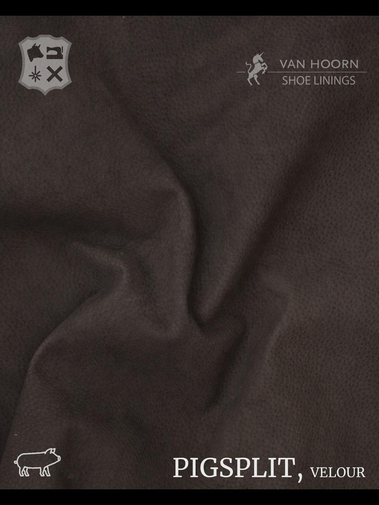 Van Hoorn Shoe Linings Pigsplit - Velour in Dark Brown