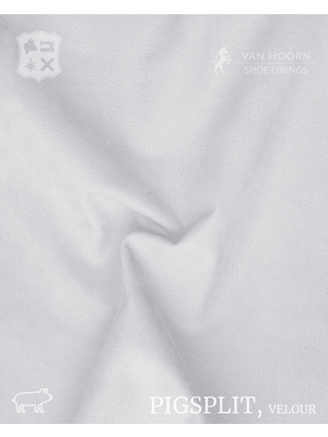 Van Hoorn Shoe Linings Pigsplit - Velour (01: Ivory)