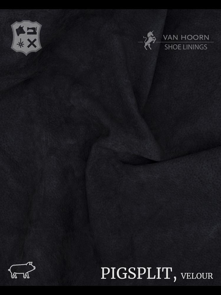 Van Hoorn Shoe Linings Pigsplit - Velour in Black