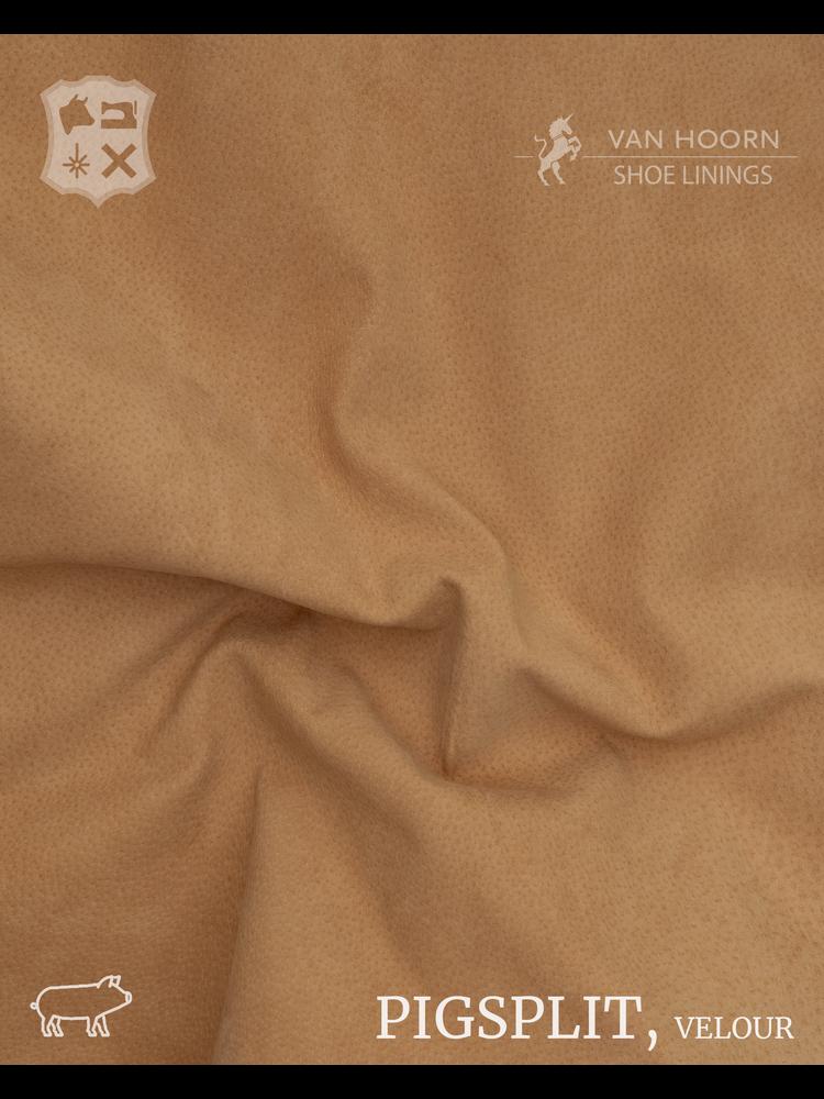 Van Hoorn Shoe Linings Pigsplit - Velour in Camel