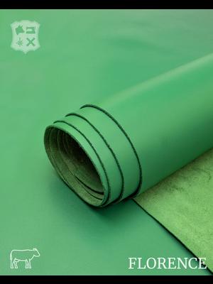 Florence Glad leder met een zijdeglans (G11: Emerald)