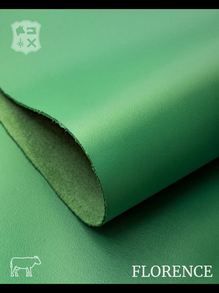 Florence Emerald groen - Florence collectie: Strak glad leder met een zijdeglans