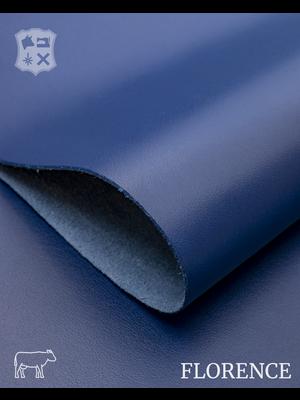 Florence Ultramarine blauw - Florence collectie: Strak glad leder met een zijdeglans