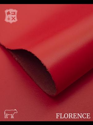 Florence Fiery rood - Florence collectie: Strak glad leder met een zijdeglans