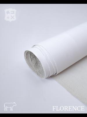 Florence Milk wit - Florence collectie: Strak glad leder met een zijdeglans