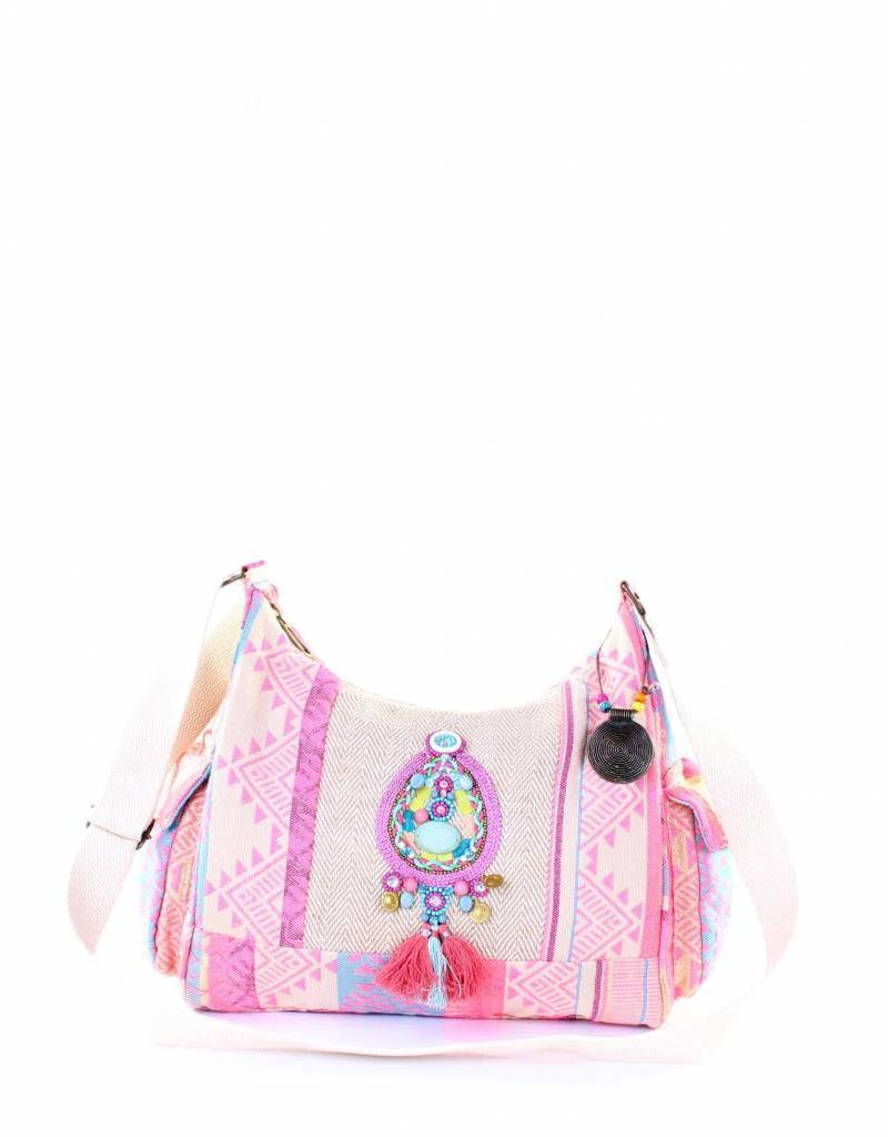PE Florence Reich bestickte Ibiza Handtasche