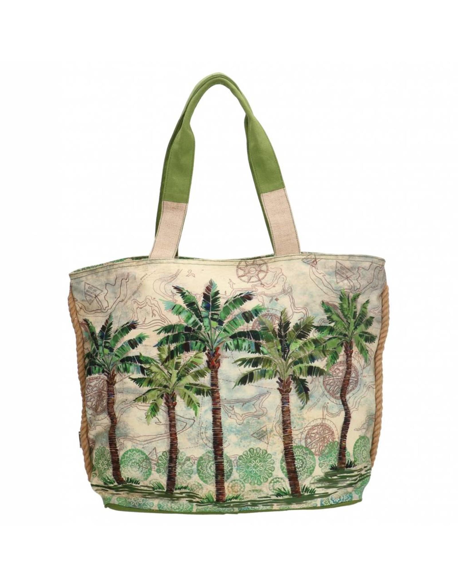 PE Florence Strandtasche mit Palmen