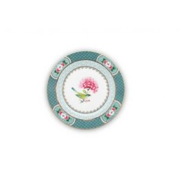 Pip Studio Teller Blushing Birds in blau 17cm