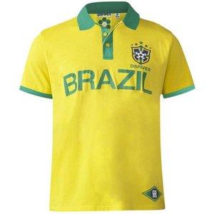 Polo polaire Silva Brazil jaune 3XL