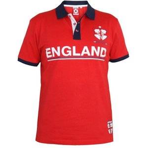 Polo Angleterre 4XL rouge