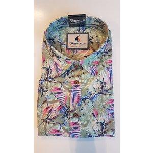 GCM Sports Overhemd 5016BM Groen 4XL