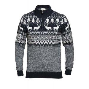 Duke/D555 Sweater winter KS80556 grijs/wit 2XL