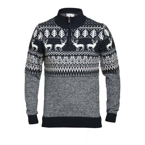 Duke/D555 Sweater winter KS80556 grijs/wit 3XL