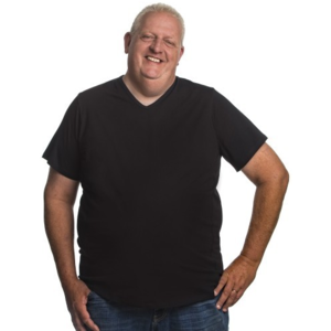 Alca T-shirt zwart v-neck 4XL