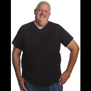 Alca T-shirt zwart v-neck 8XL