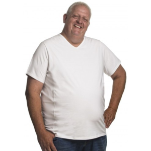 Alca T-shirt col en V blanc 5XL