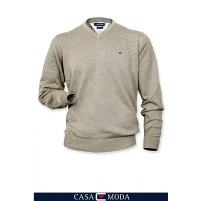 Casa Moda v-neck sweater 4130/24 zand 6XL