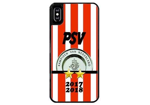 PSV Kampioen hardcover iPhone X - zwart