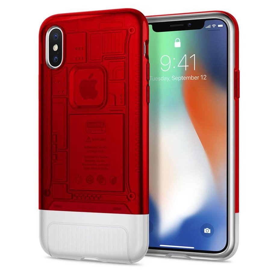 Spigen Classic C1 for iPhone X ruby-1