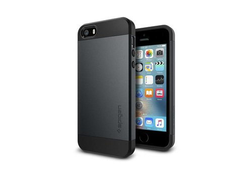 Spigen Slim Armor for iPhone 5/5s/SE metal slate