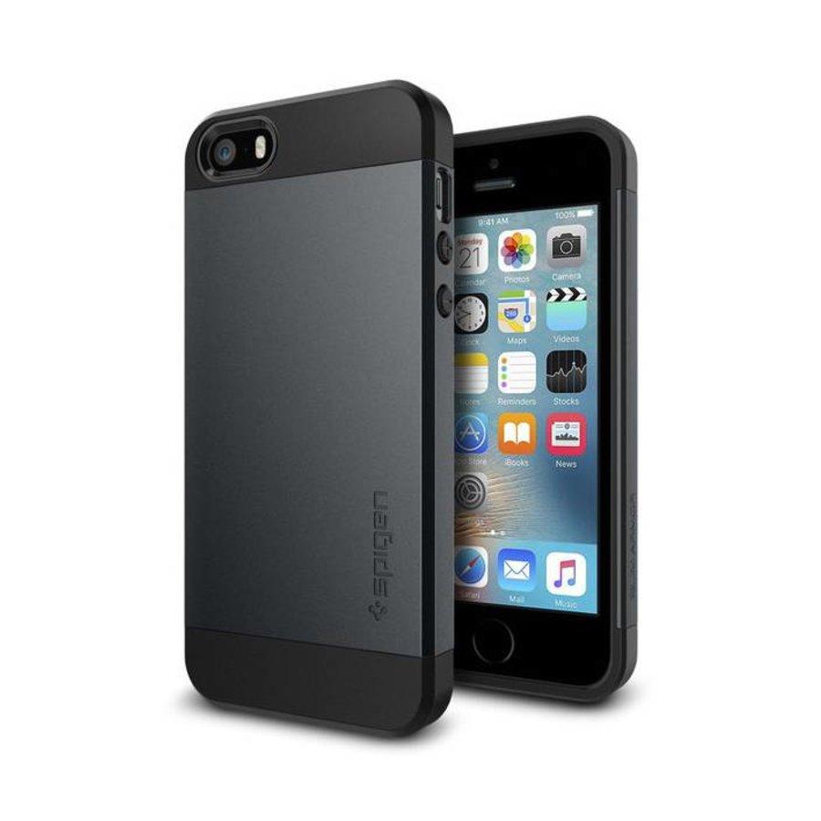 Spigen Slim Armor for iPhone 5/5s/SE metal slate-1