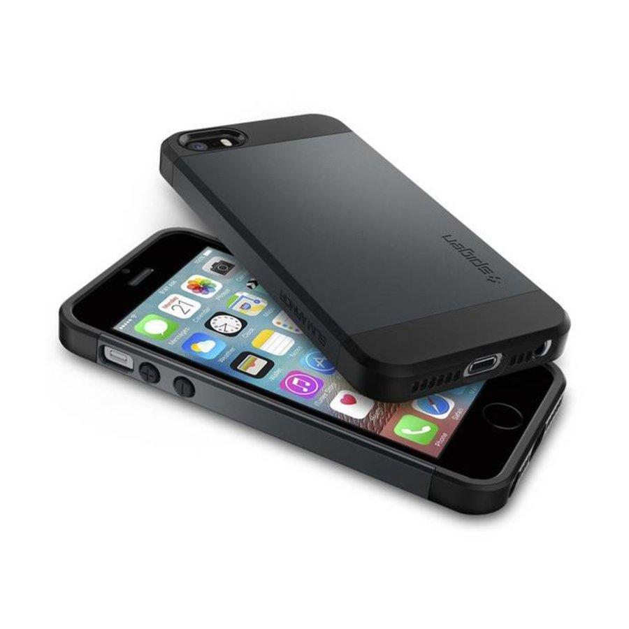 Spigen Slim Armor for iPhone 5/5s/SE metal slate-5