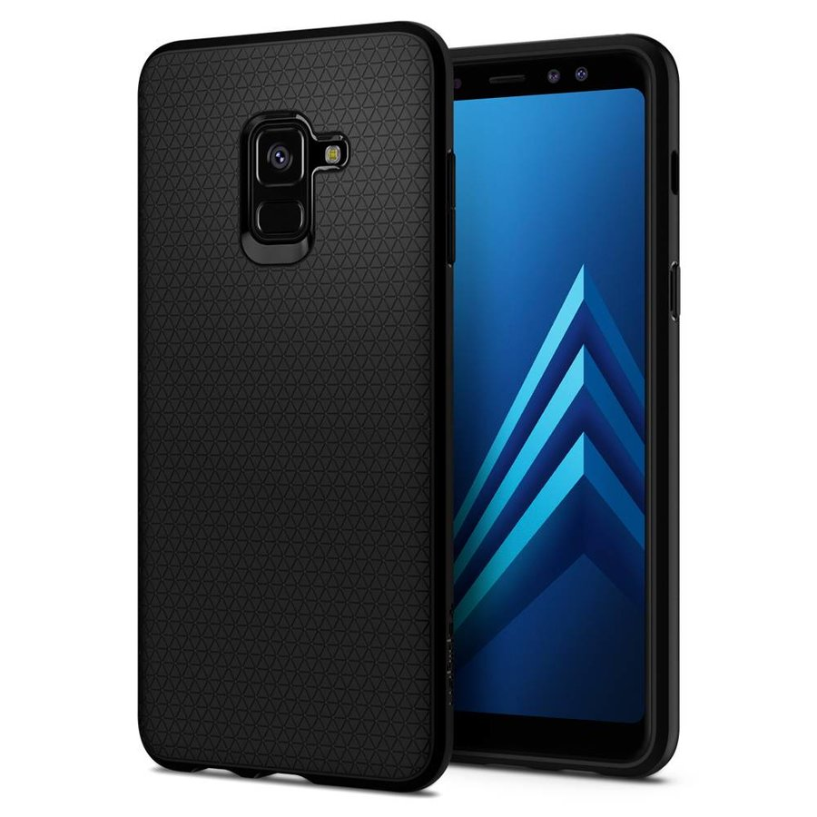 Spigen Liquid Air for GALAXY A8 (2018) matt black-1