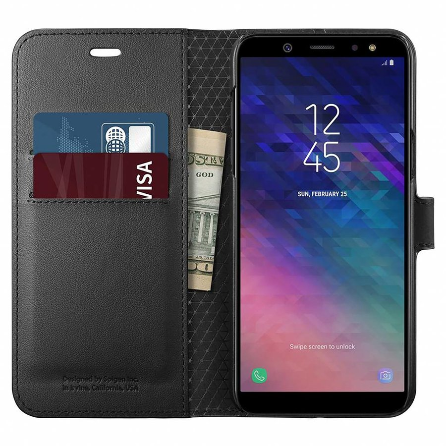 Spigen Wallet S  for Galaxy A6 (2018) black-1