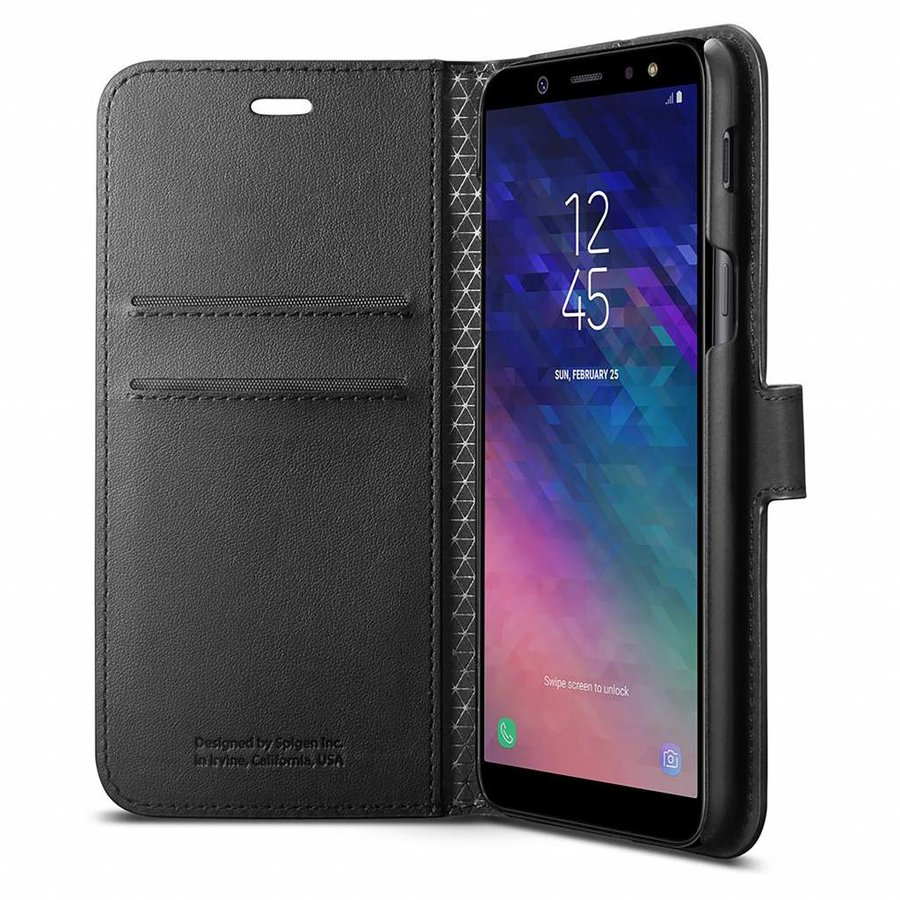 Spigen Wallet S  for Galaxy A6 (2018) black-3