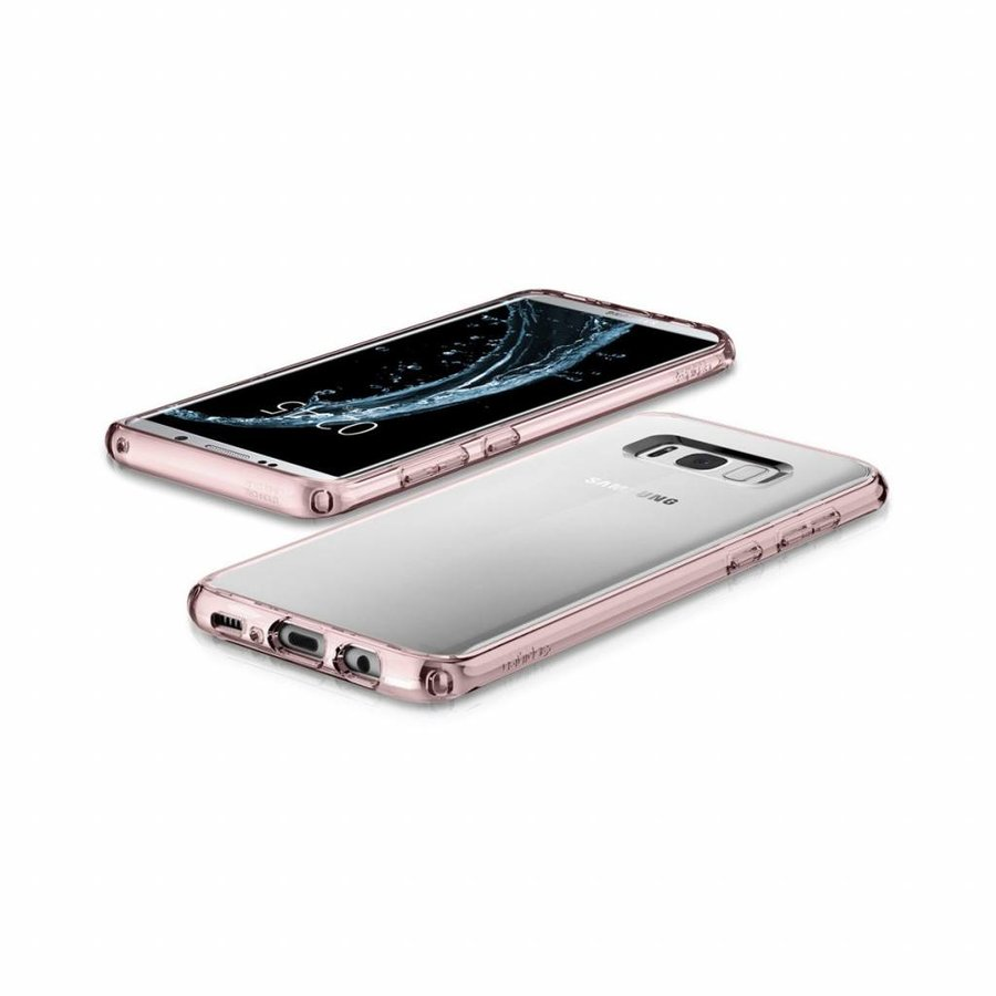 Spigen Ultra Hybrid for Galaxy S8+ pink-1