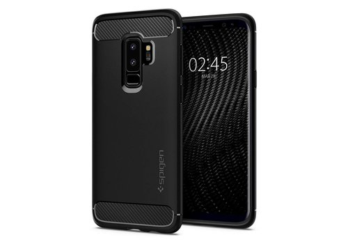 Spigen Rugged Armor for Galaxy S9+ matt black