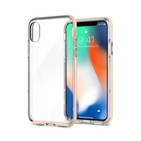 thumb-Spigen Neo Hybrid Crystal for iPhone X Rose Gold-1