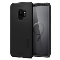 thumb-Spigen Thin Fit 360 (Glass Screen Protector) for Galaxy S9 black-1