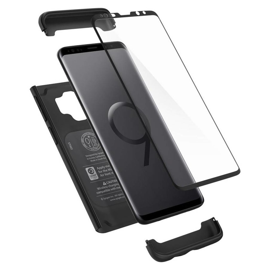 Spigen Thin Fit 360 (Glass Screen Protector) for Galaxy S9 black-5