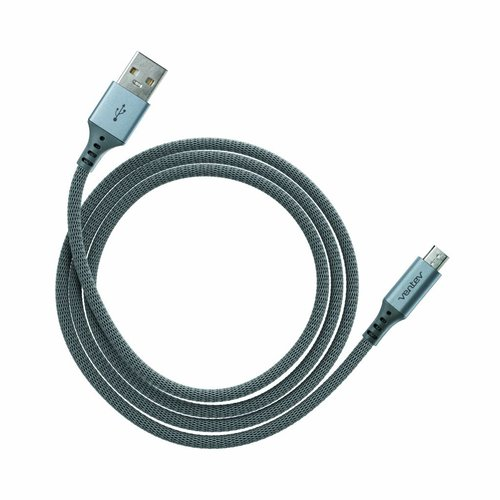 Ventev charge & sync cable 4ft USB-A to microUSB stealth black