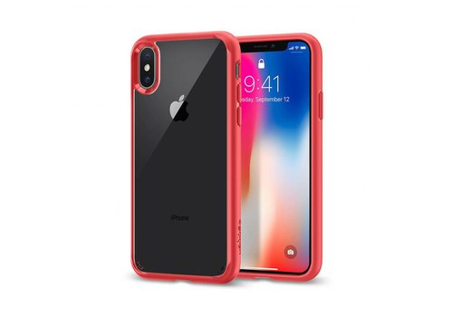 Spigen Ultra Hybrid for iPhone X red