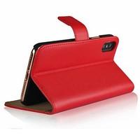 thumb-Movizy lederen walletcase iPhone X(s) - rood-2