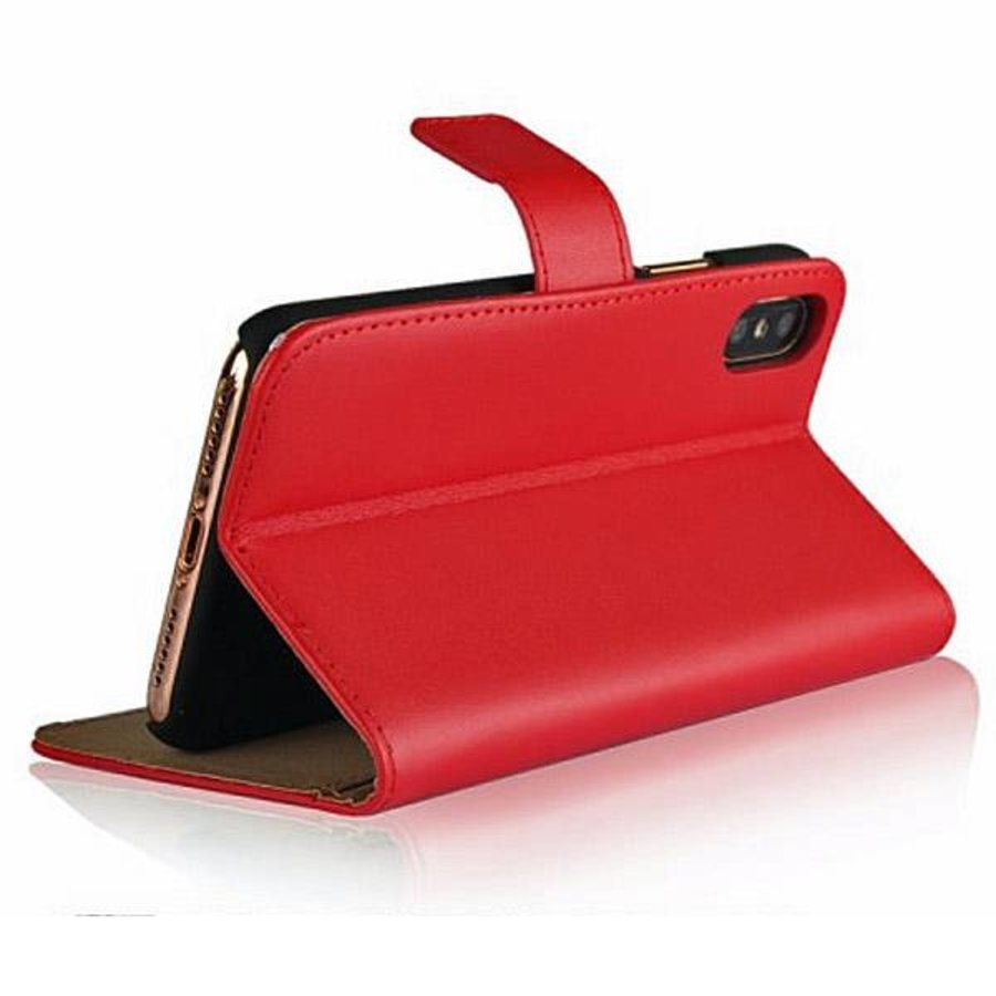 Movizy lederen walletcase iPhone X(s) - rood-2