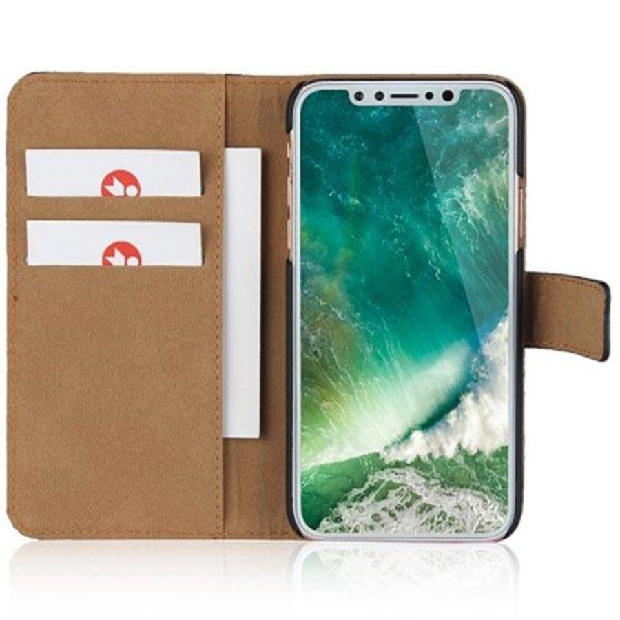 Movizy lederen walletcase iPhone X(s) - wit-3