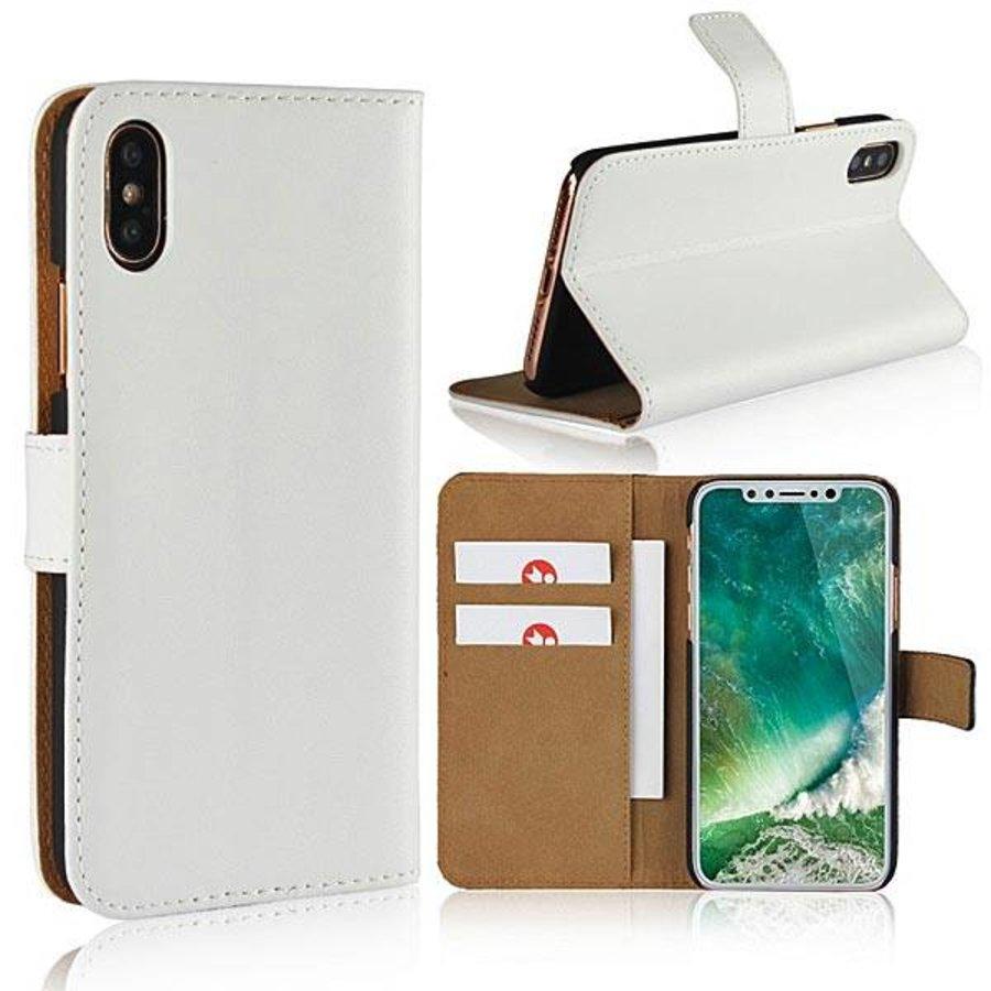 Movizy lederen walletcase iPhone X(s) - wit-2