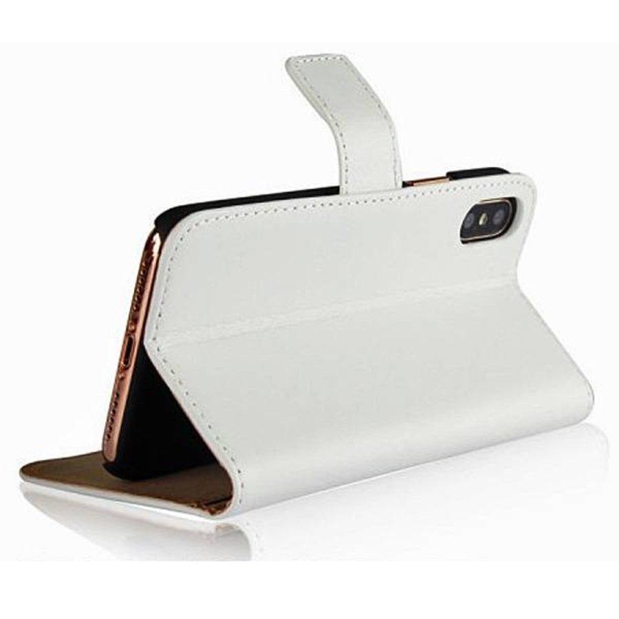 Movizy lederen walletcase iPhone X(s) - wit-1