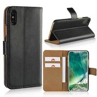 thumb-Movizy lederen walletcase iPhone X(s) - zwart-1