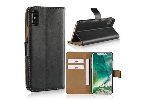 Movizy lederen walletcase iPhone X(s) -zwart