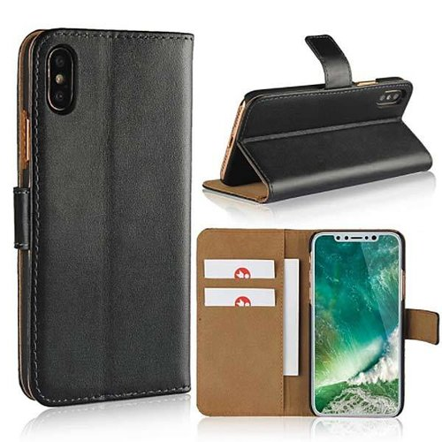 Movizy lederen walletcase iPhone X(s) -zwart