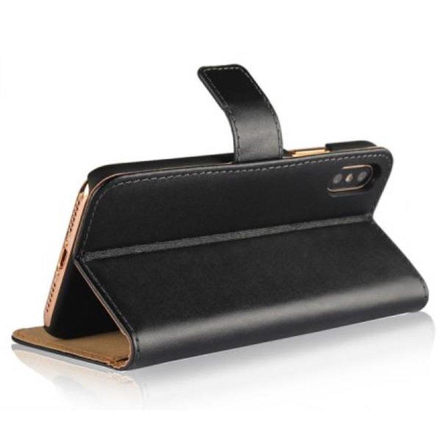 Movizy lederen walletcase iPhone XR - zwart-3