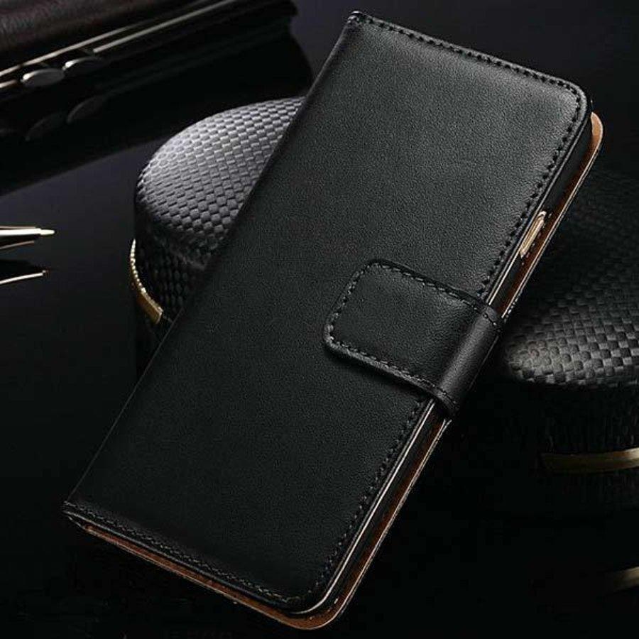 Movizy lederen walletcase iPhone XR - zwart-4
