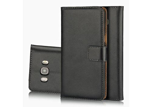 Movizy lederen walletcase Samsung Galaxy S8 Plus - zwart