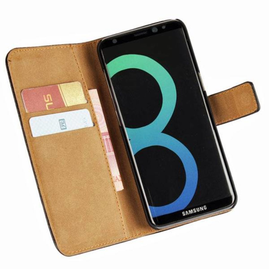 Movizy lederen walletcase Samsung Galaxy S8 Plus - zwart-3