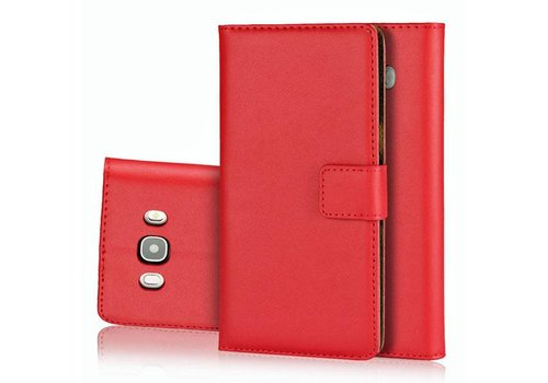 Movizy lederen walletcase Samsung Galaxy S8 - rood - Copy
