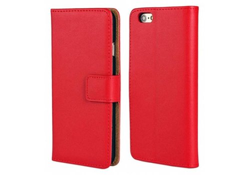Movizy lederen walletcase iPhone 7/8 - rood